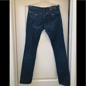 Miss Me Dark Blue Jeans with Diamond Accents